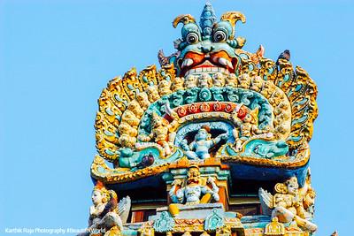 Top of the Gopuram tower, Sarangapani Temple, Kumbakonam, India