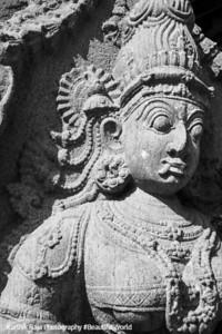 A closeup of Veerabhadra, Meenakshi temple, Madurai, India
