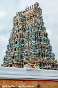 Gopuram, Meenakshi temple, Madurai, India