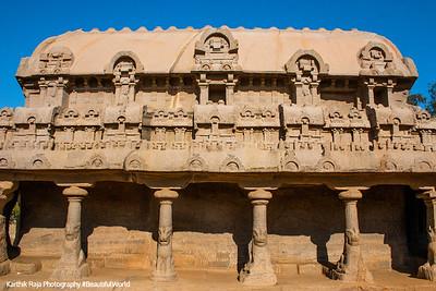 Bhima Ratha, Pancha Rathas, Mahabalipuram, Tamil Nadu, India