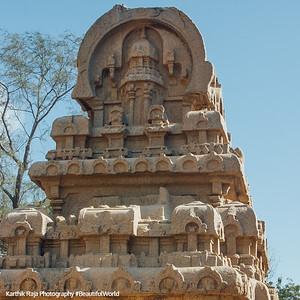Nakula Sahadeva Ratha, Pancha Rathas, Mahabalipuram, Tamil Nadu, India