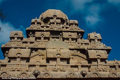 Dharmaraja Ratha, Pancha Rathas, Mahabalipuram, Tamil Nadu, India