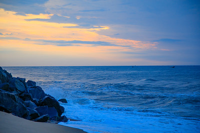 Pilgrimage Beach, Mahabalipuram, Tamil Nadu, India