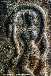 Stone dancer, Sri Ranganathaswamy Temple, Srirangam, Tiruchirapalli (Trichy)