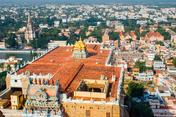 Thayumanaswamy temple and St.Joseph's college, Tiruchirapalli (Trichy)