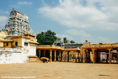 One of the 21 gopurams and part of the 156 acres, Sri Ranganathaswamy Temple, Srirangam, Tiruchirapalli (Trichy)