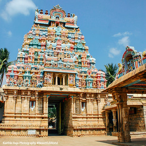 Gopuram within the temple, Sri Ranganathaswamy Temple, Srirangam, Tiruchirapalli (Trichy)