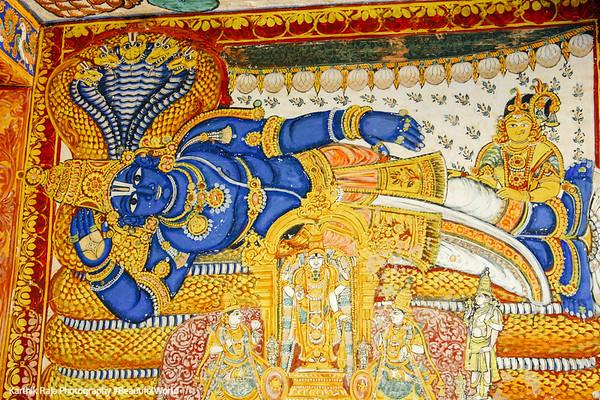 Fresco, Vishnu, Adisesha, Sri Ranganathaswamy Temple, Srirangam, Tiruchirapalli (Trichy)