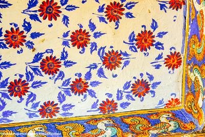 Prints on the wall, Sri Ranganathaswamy Temple, Srirangam, Tiruchirapalli (Trichy)