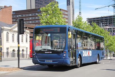 Diamond Bus Birmingham 30807 Moor Street Queensway Jun 18