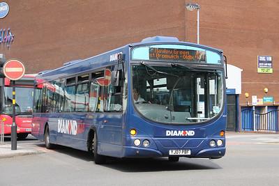 Diamond Bus Birmingham 30413 West Bromwich Ringway Jun 18