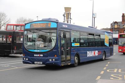 Diamond Bus Birmingham 30411 West Bromwich Bus Station Apr 14