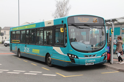 Arriva Midlands North 3796 Cannock Bus Station Apr 14