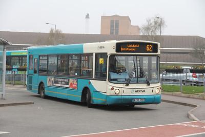 Arriva Midlands North 2228 Cannock Bus Station Apr 14
