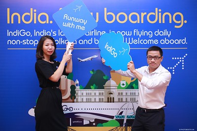 IndiGo | New routes to Vietnam Launching Event @ Meliá Hanoi | Chụp ảnh in hình lấy liền tại Hà Nội | Photobooth Hanoi