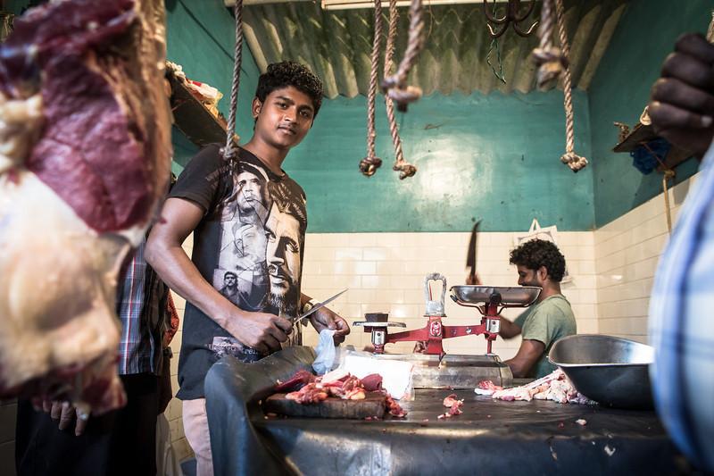 Meat and fish market in Kalpetta, Wayanad