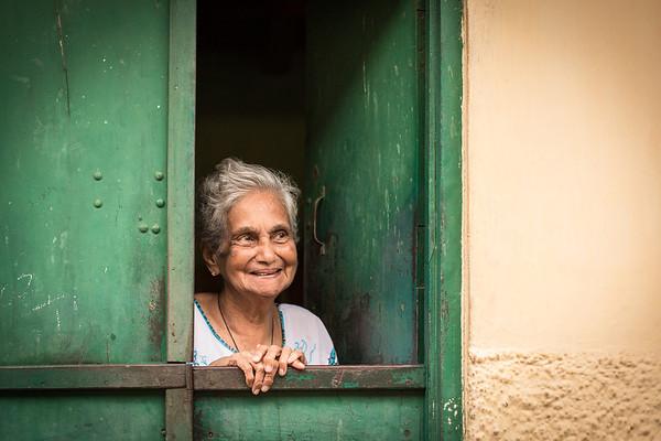 Old lady in Fort Kochin, Kerala