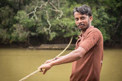 On the way over the river to Kuruva Island, Wayanad