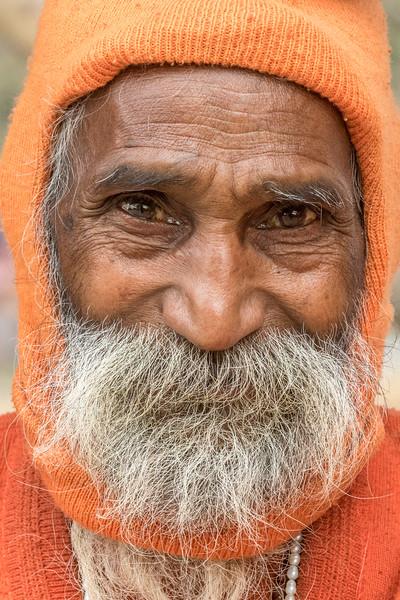 Haridwar, India. The friendly face of a sadhu.