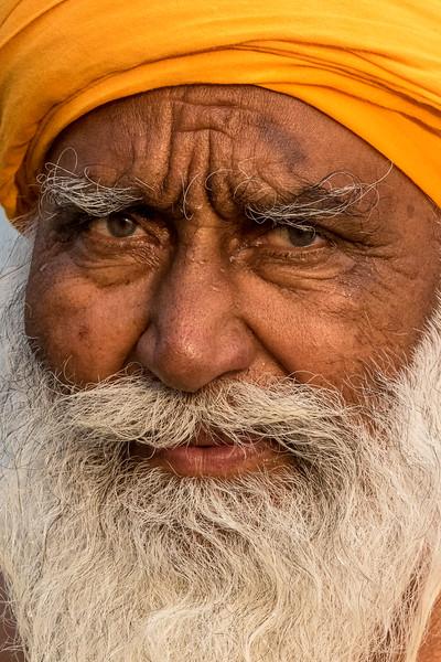 Haridwar, India. The piercing gaze of a sadhu.