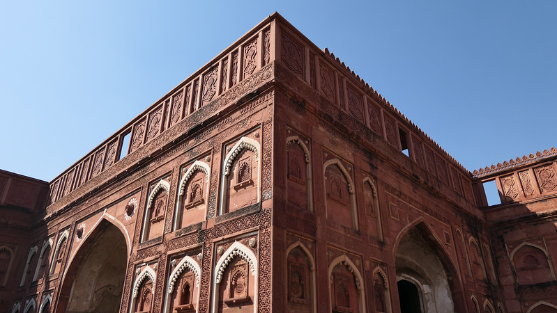 Agra Fort in red sandstone