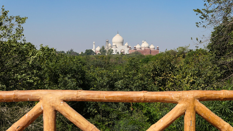 Views of the Taj Mahal from the Taj Walk