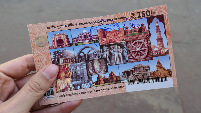 Admission ticket to Agra Fort