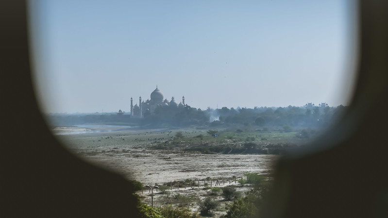 Viewing the Taj from Agra Fort