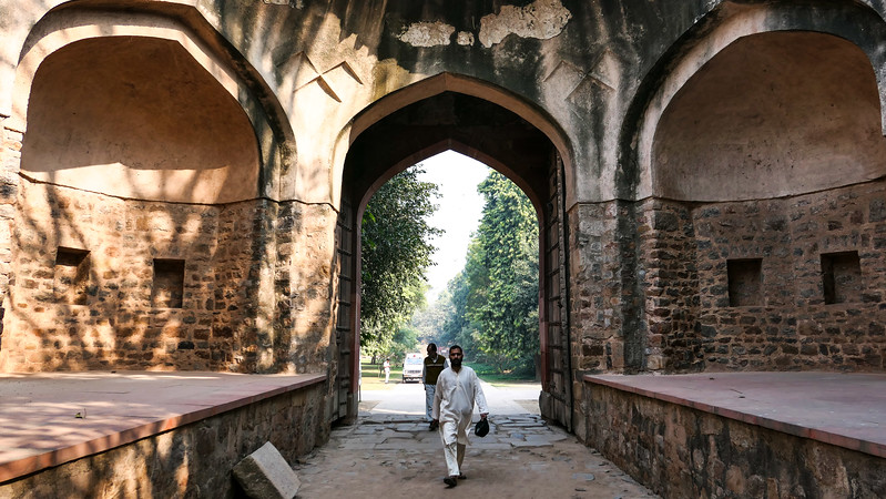 Touring the grounds of Humayun's Tomb