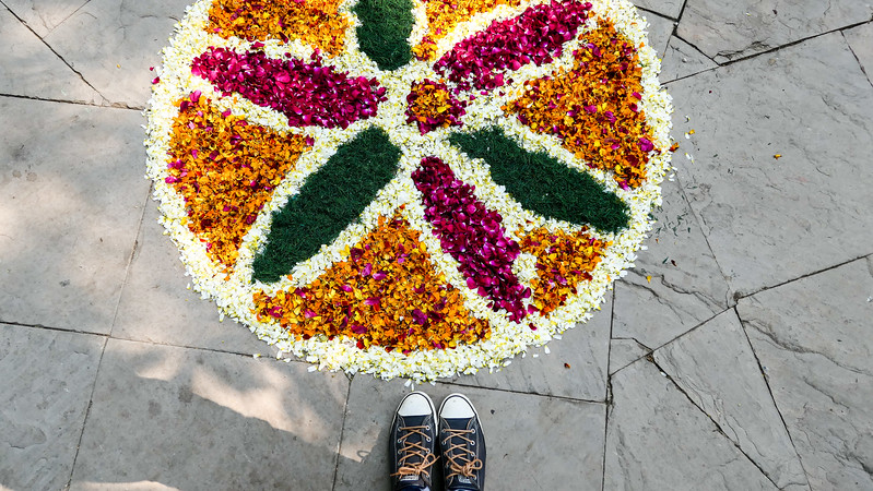 A flower arrangement spotted in Delhi.