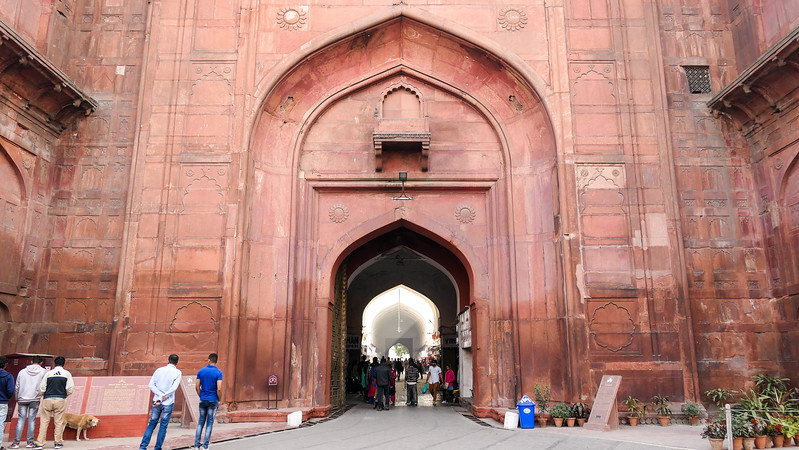 Visiting the Red Fort in Delhi, India
