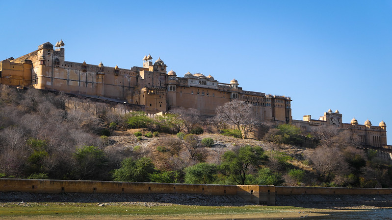 Visiting the Amber Fort in Jaipur.