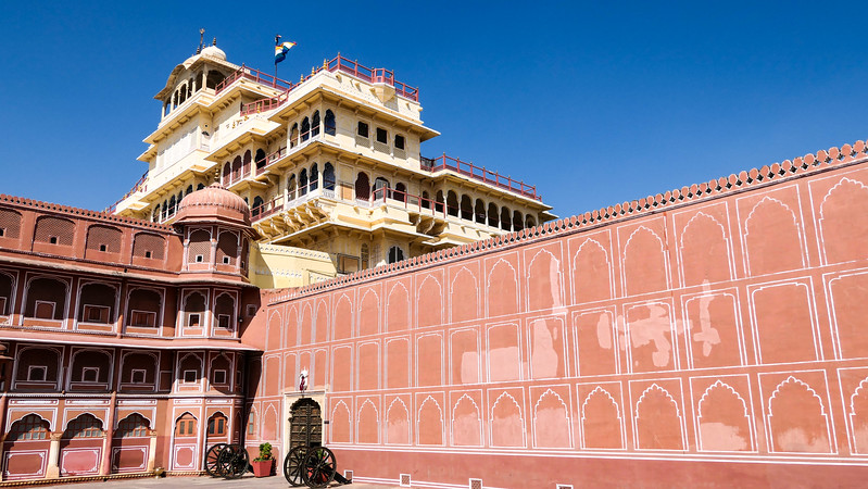 Visiting the City Palace in Jaipur.