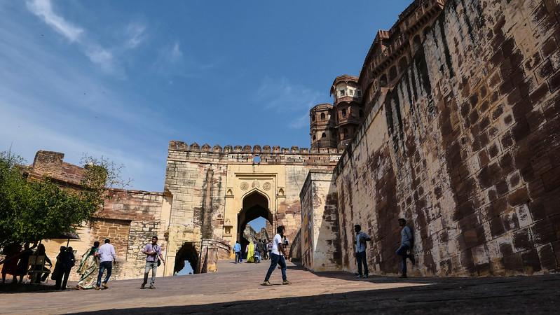 Visiting Mehrangarh Fort in Jodhpur.