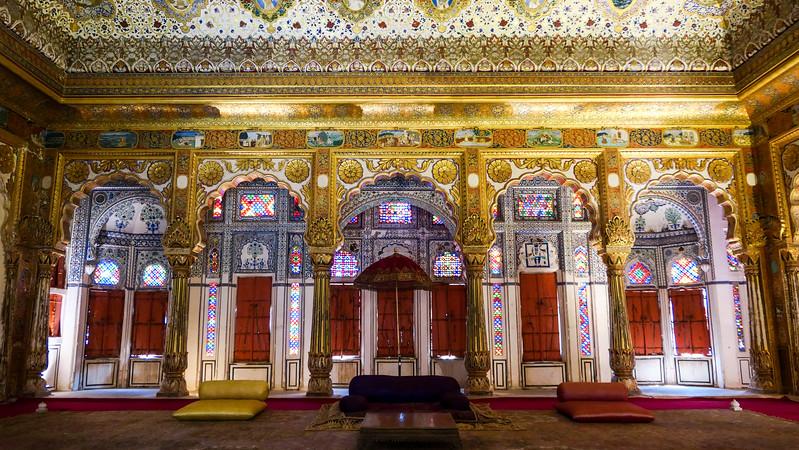 Inside Mehrangarh Museum in Jodhpur.