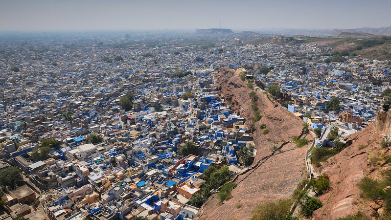 Jodhpur is a city that has been painted blue.