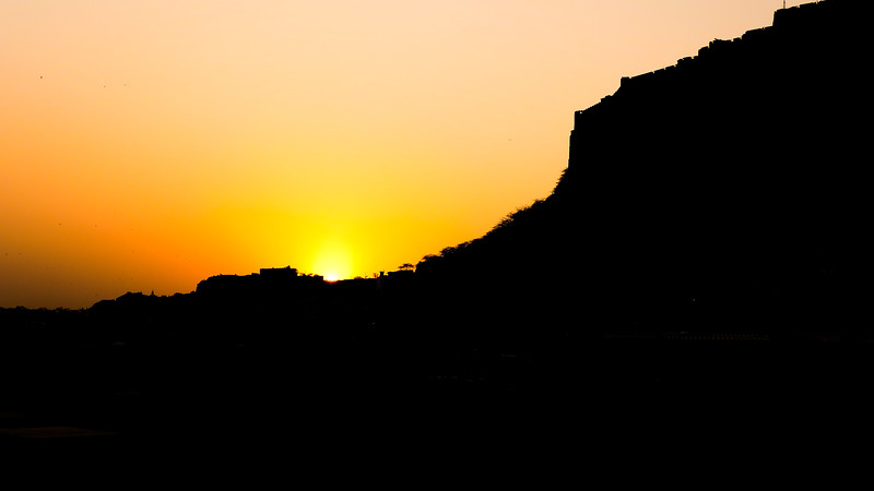 Sunset in Jodhpur.