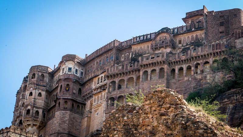 The palaces inside Mehrangarh Fort, Jodhpur.