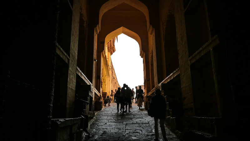 The gates leading into Mehrangarh Fort.