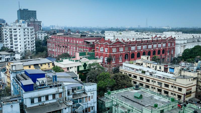 Views of Kolkata from a rooftop.