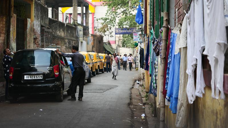 Exploring the streets of Kolkata on foot.