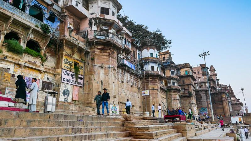 Walking the ghats in Varanasi