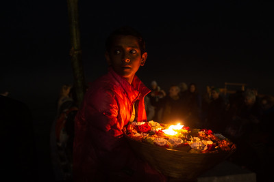Child at Aarti Ceremony