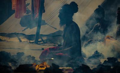 Fire Ceremony, Kumbha Mela 2019