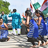 Dancers preforming at the India Day Celebration, on left is Krina Dani 11 of Nashua NH. SUN/David H. Brow