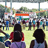 Kicking off the India Day Celebration with the National Flag Hosting and playing of the American and Indian National Athems. SUN/David H. Brow