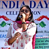 Singing at the India Day Celebration is Juhi Lalwani 17 of Chelmsford. SUN/David H. Brow