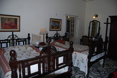 356 - Our room in Alsisar Haveli hotel in Jaipur