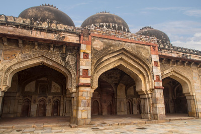 """Bara Gumbad (""""Big Dome""""), it consists of a large rubble-construct dome,"""