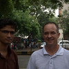 Prafull and Larry hanging out in Delhi